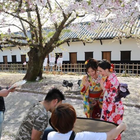 桜と和装写真会